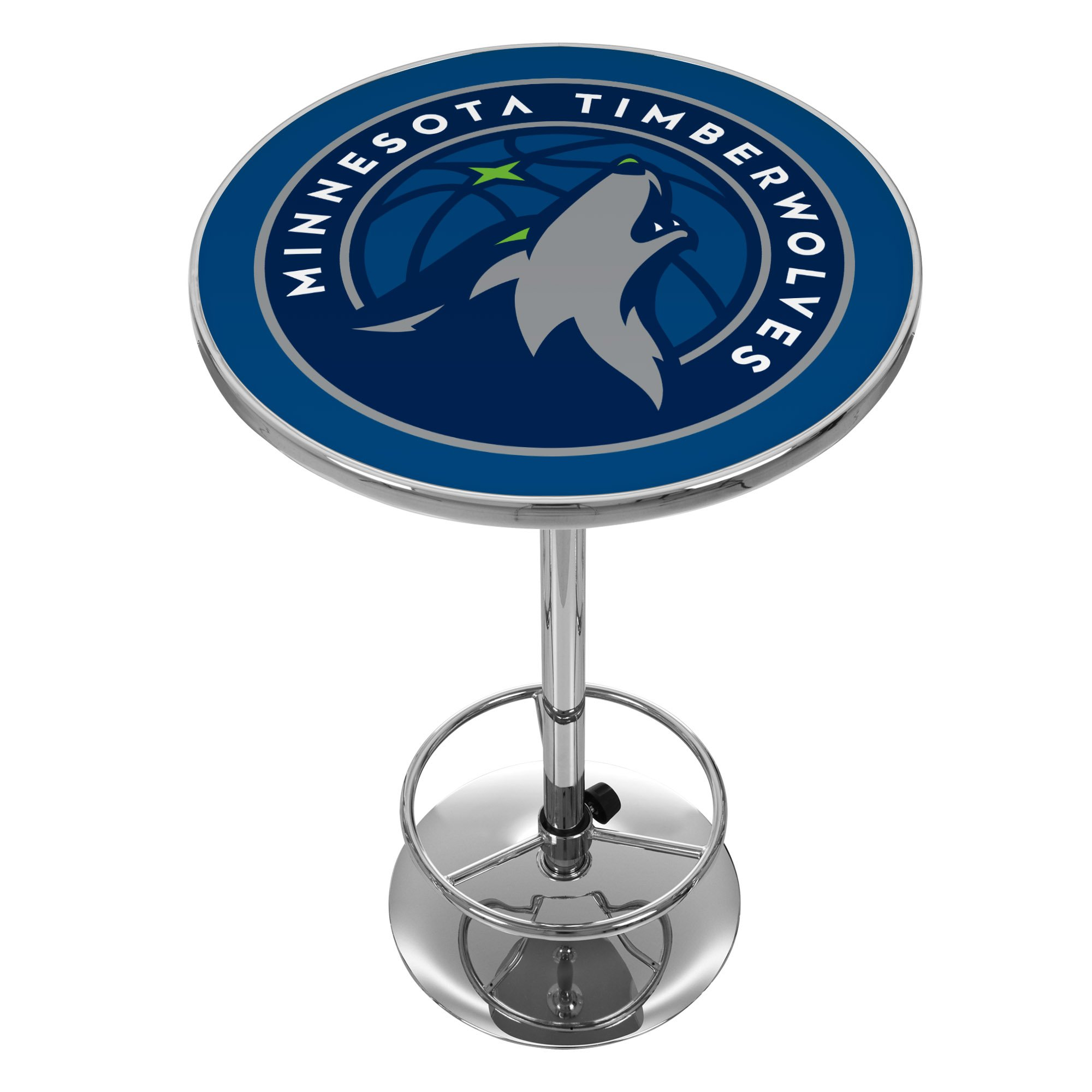 NBA Minnesota Timberwolves Chrome Pub Table by Trademark Gameroom