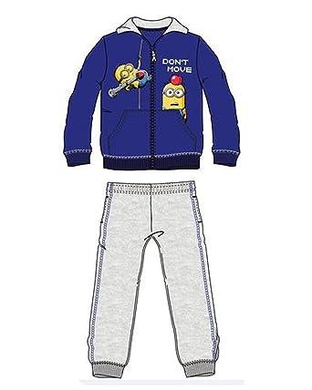 Kids Boys Minions Tracksuit Zip Top /& Jog Bottoms Set 3-8 Years