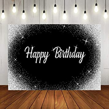 Happy Birthday Backdrop Sweet 16 Backdrops Cake Table Banner Party Decor Shining Background Vinyl Backgrounds Photo Booth Shoot Studio Props
