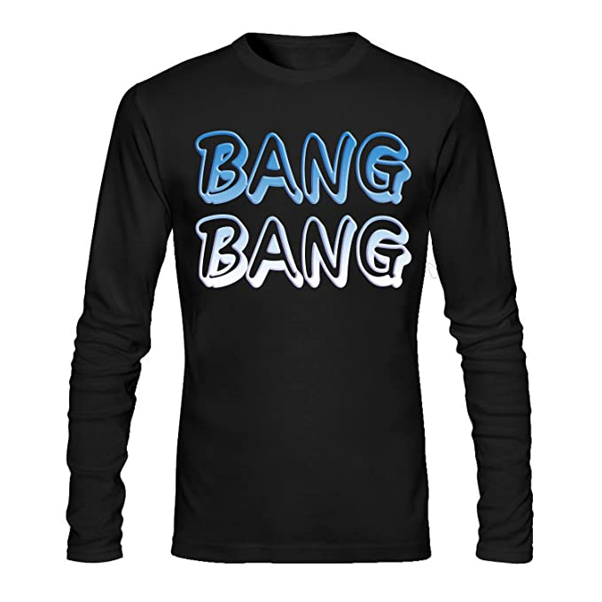 a71468a6340b9 Amazon.com: BANG BANG Men's Long Sleeve Cotton Tshirt Black: Clothing