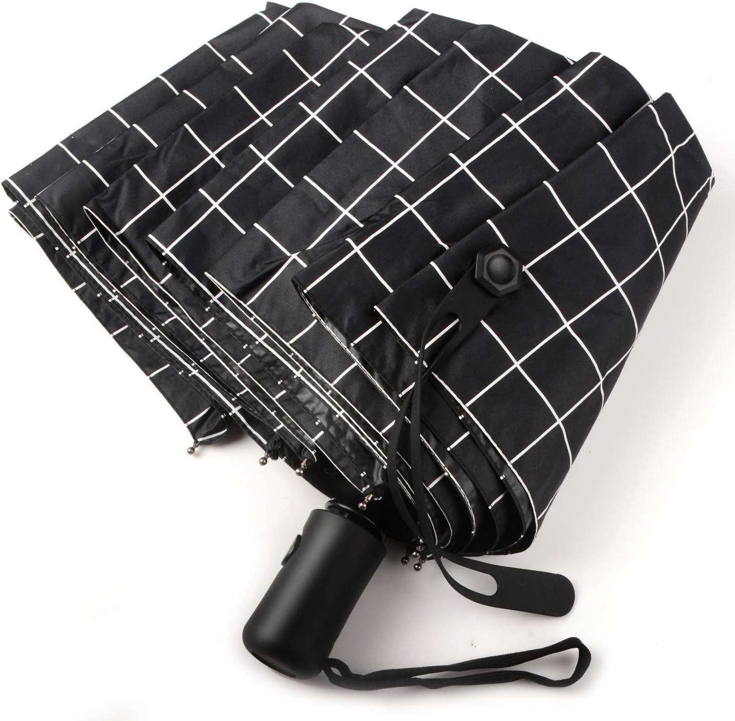 Olele Parapluie Pliant Automatique /à Ouverture et Fermeture Compact pour Voyage Blanc Homme Femme