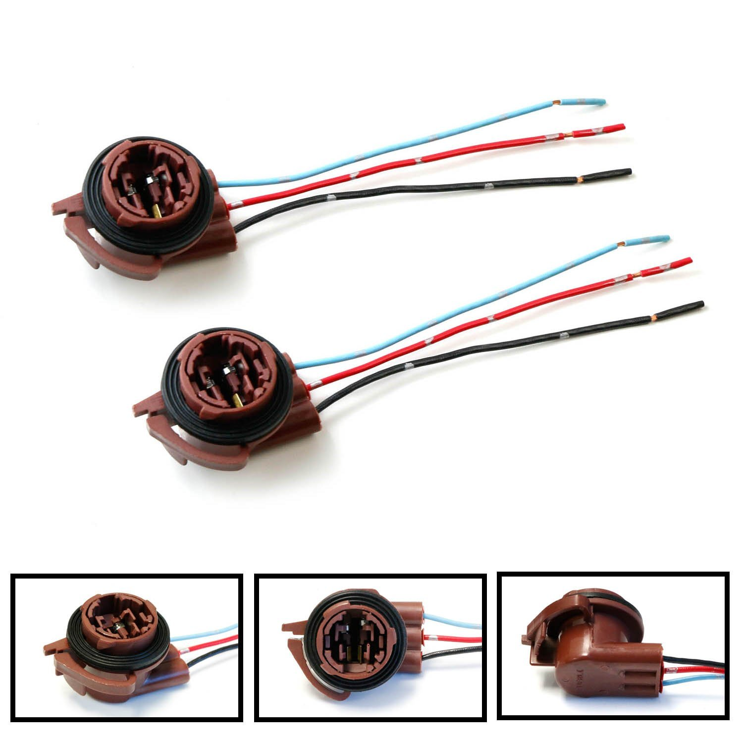 Amazon.com: iJDMTOY (2) 3156 3157 Pre-Wired Harness Sockets For ...