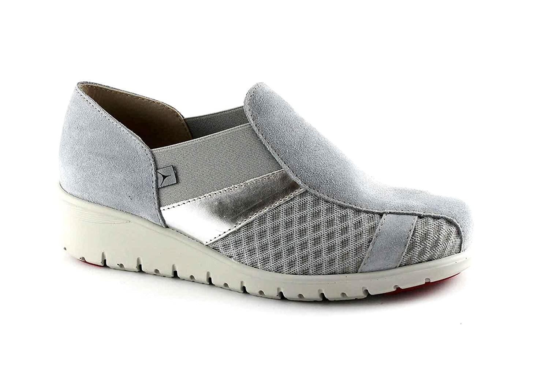 Cinzia Soft IMPRESSUM 9804LQ Graue Schuhe Frauen zeppetta Komfort zeppetta Frauen Elastische Löcher Grigio 4020c0