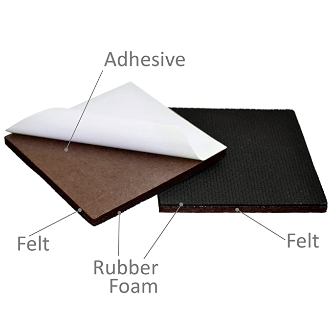 Best Furniture Grippers   SelfAdhesive Rubber Feet   Furniture Floor  Protectors For Keep In Place Furniture U0026 Furniture Stoppers     Amazon.com