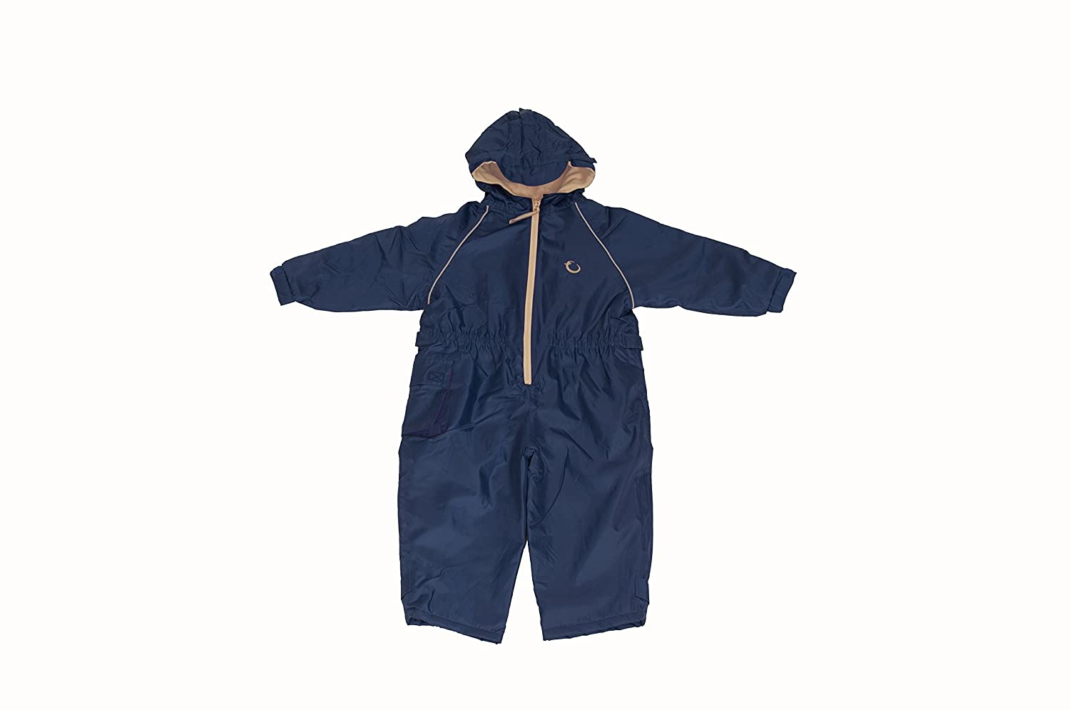 Hippychick Fleece Lined Waterproof All-in-One Suit - Navy/Sand, 2-3 Years HWNF2-3 5060248819081