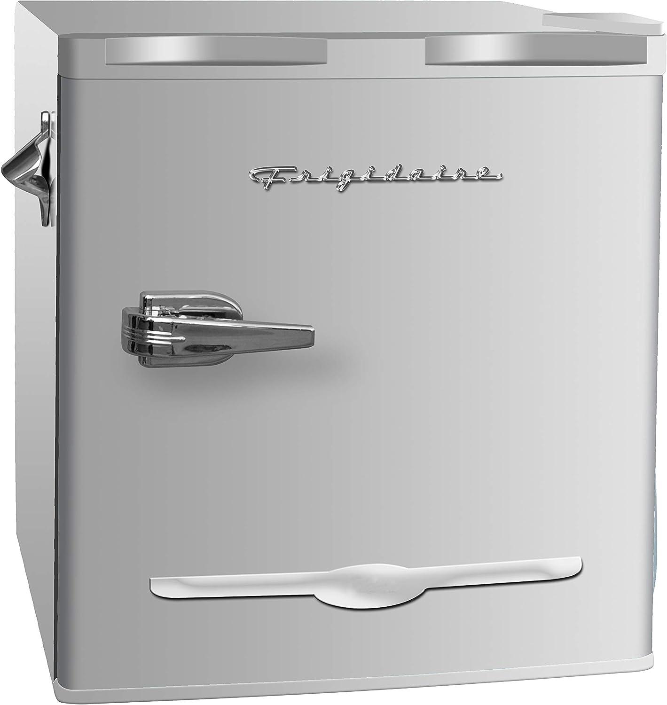 1.6 Cu.Ft Home Small Fridge Cooler with One Shelf Retro Style Single Door Mini Fridge Using for Home,Office Dorm Compact Refrigerator Freezer