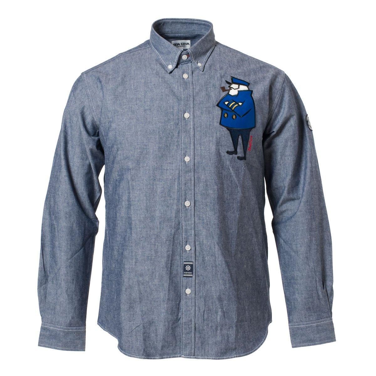 (シナコバ) SINA COVA ボタンダウンシャツ B0753424NR M|ネイビー ネイビー M