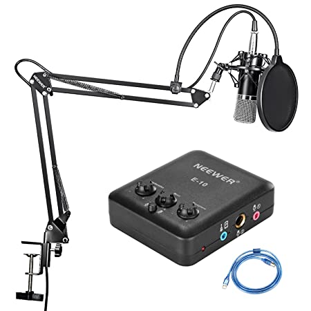 Neewer - Micrófono de condensador, soporte con Kit de ...