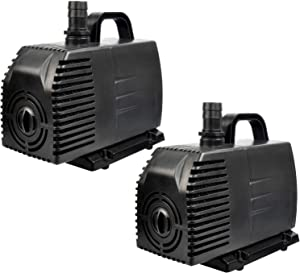 Simple Deluxe 1056 GPH Submersible Pump with 15' Cord, Water Pump for Fish Tank, Hydroponics, Aquaponics, Fountains, Ponds, Statuary, Aquariums & Inline - 2 Pack