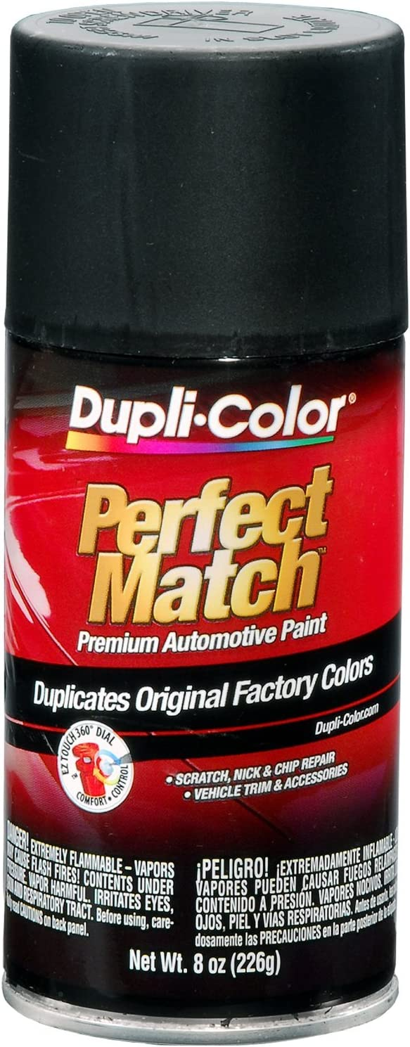 Dupli-Color EBUN01047 Universal Flat Black Perfect Match Automotive Paint - 8 oz. Aerosol