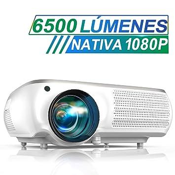 Proyector, TOPTRO 6500 Lúmenes Proyector Cine en Casa Full ...