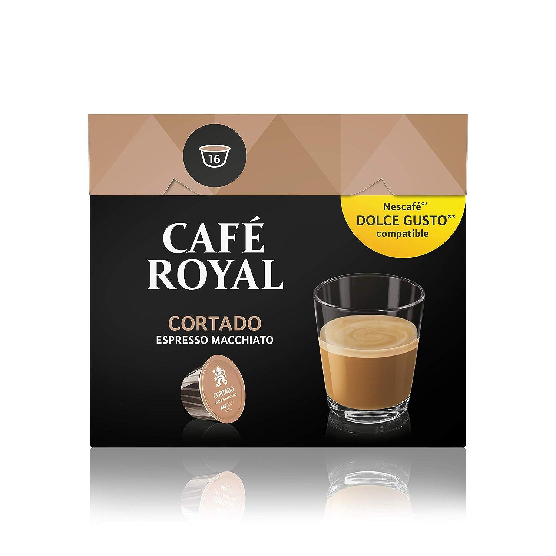 Café Royal Cortado 48 cápsulas compatibles con Nescafé Dolce Gusto (Pack de 3 x 16 cápsulas)