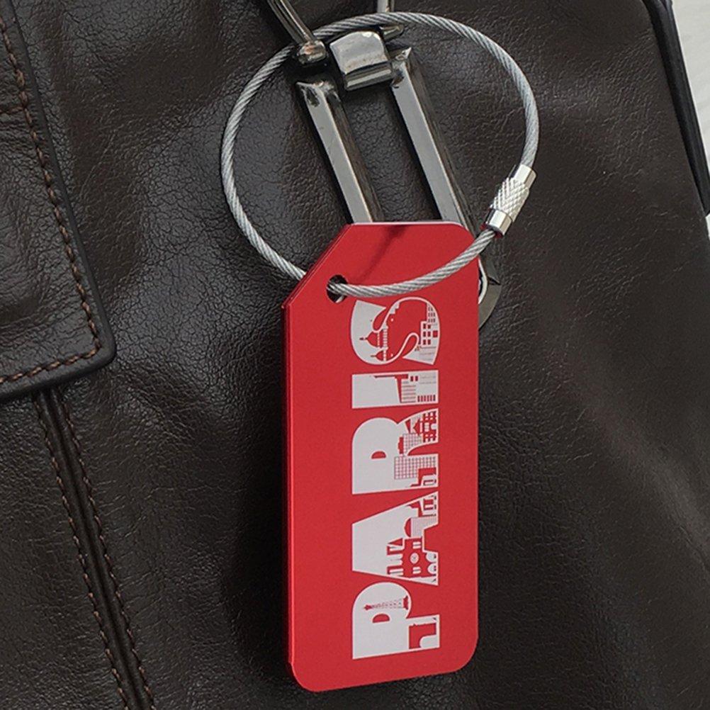 VORCOOL 7Pcs Luggage Tag Aluminum Travel Luggage Baggage Handbag Tag Fashion Environment Friendly Travel Luggage Tags by VORCOOL (Image #5)