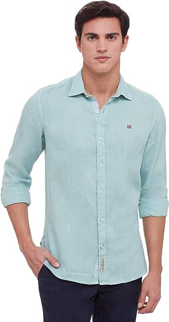 NAPAPIJRI - Camisa casual - para hombre verde claro L: Amazon.es: Ropa y accesorios