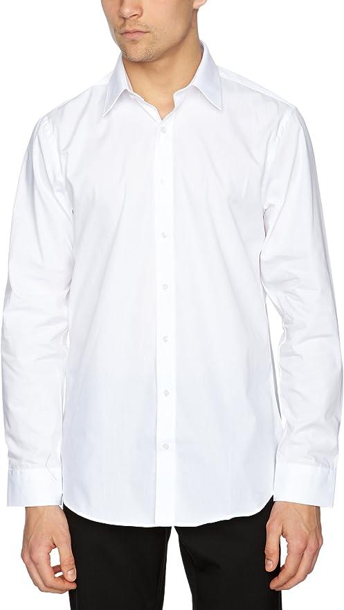 Pierre Cardin - Camisa de Manga Larga para Hombre, Talla 41/42, Color Blanco: Amazon.es: Ropa y accesorios