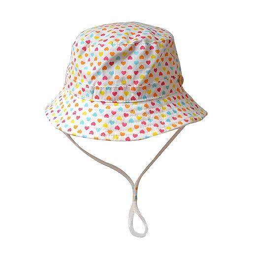 Jojobaby Little Girls Summer Hats Baby Sun Hats Love Sunbonnet 3m-6t (46cm  3547042f72c