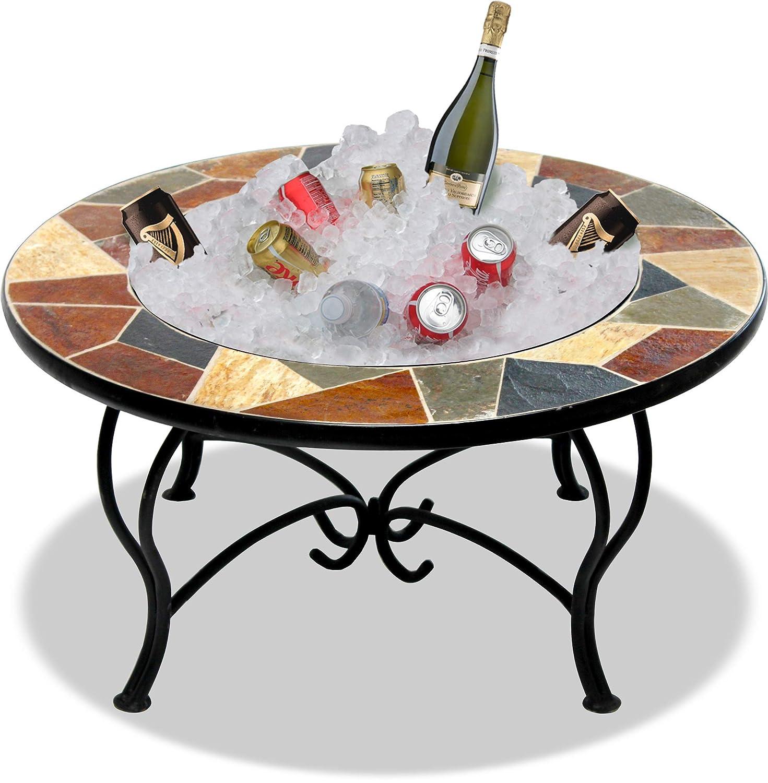 Table Basse Barbecue Et Seau A Glace Avec Ardoise Carrelage