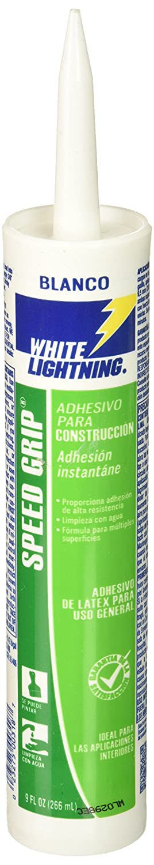 White Lightning W70100010 Speed Grip Construction Adhesive White 9 OZ