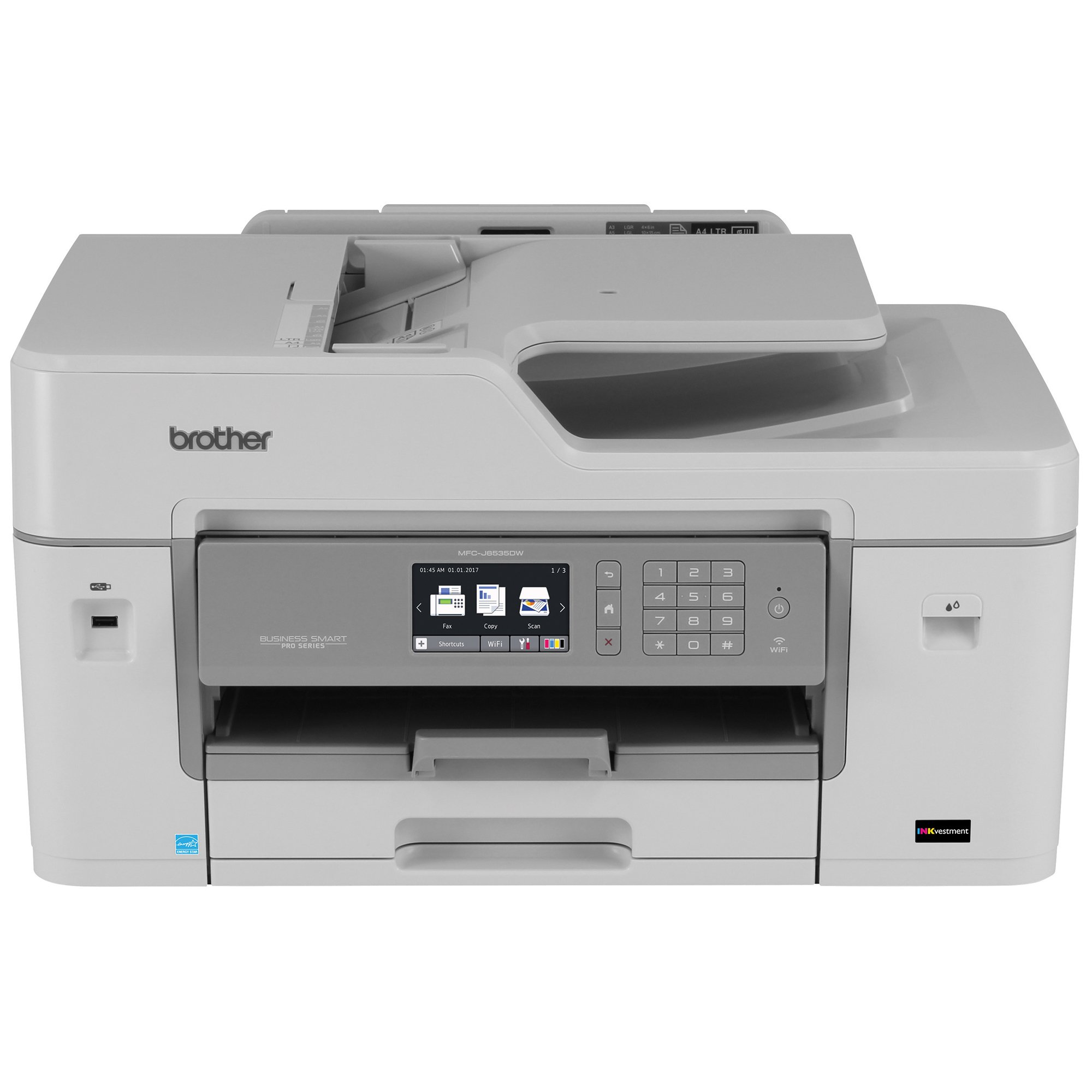 Brother MFCJ6535DW Inkjet All-in-One Color Printer, Wireless, Duplex, and Mobile Printing, Amazon Dash Replenishment Enabled