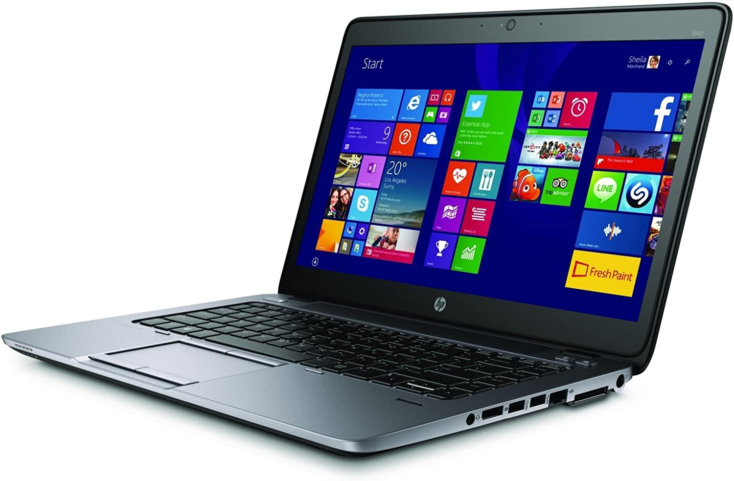 HP EliteBook 840 G2 Business Notebook with 14 Inch HD Display, Intel Core i7 CPU, 8GB RAM, 256GB SSD, Windows 10 (Renewed)