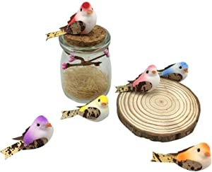 fake birds for decoration Artificial Small Fake Decorative Foam Birds for Crafts Garden, 12PCS by