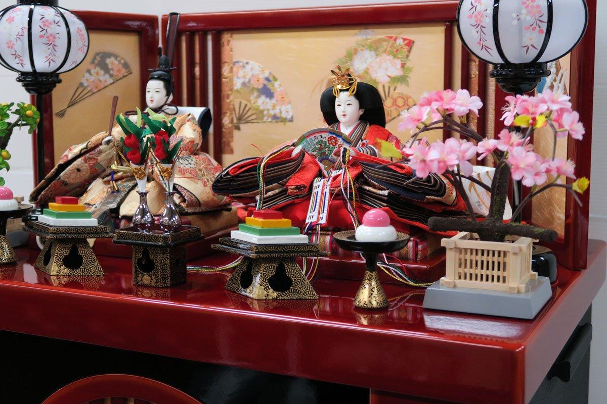 安藤桂甫作京雛十一番本金金襴親王(収納平飾り)   B01NATAV0N