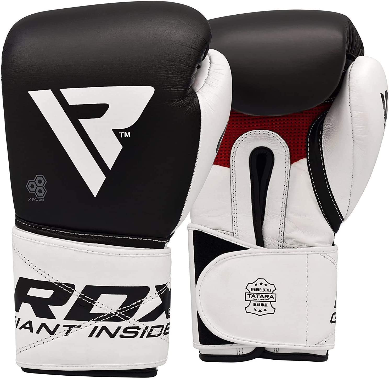 Sparring Cowhide Leather Boxing Gloves MMA FREE Hand Wraps Turkey Training