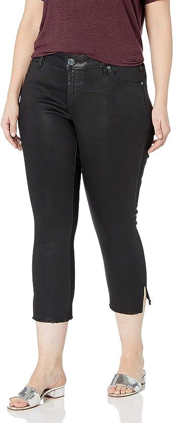 SLINK Jeans Womens Plus Size Coated Hiwaist Skinny
