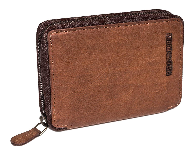 Herren Echtes Leder Geldbörse Brieftasche Portemonnaie Geldbeutel Portmonee CHIC