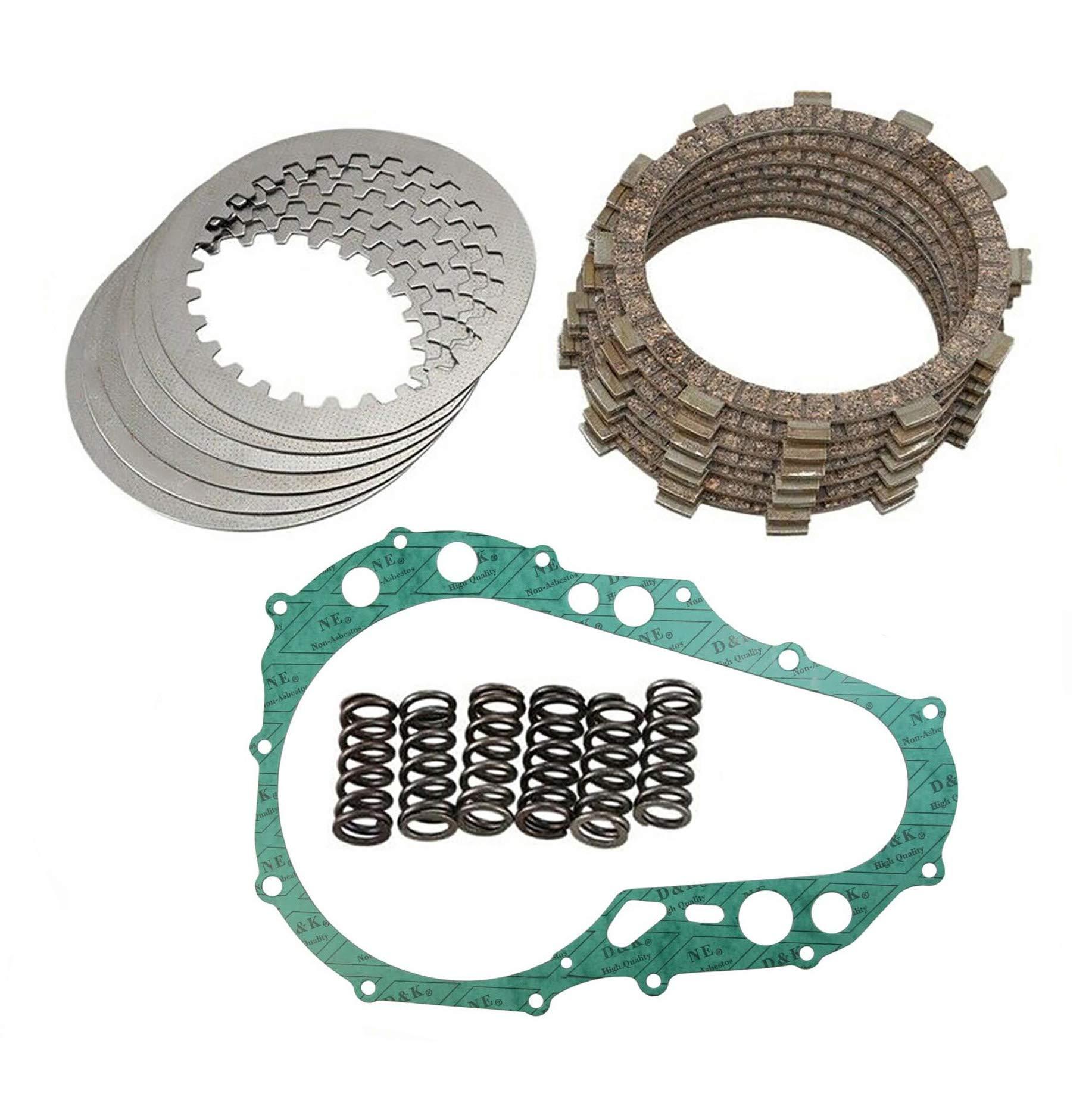 Clutch Kit Compatible Suzuki Quadsport LTZ400 LTZ 400 LT-Z400 2005-2014 Heavy Duty Springs clutch Friction Plates with Gasket Kit with Gasket