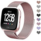 Amazon Price History for:Fitbit Versa Bands for Women Men Small Large, hooroor Milanese Loop Stainless Steel Metal Replacement Bracelet Strap with Unique Magnet Lock Accessories Wristbands for Fitbit Versa Fitness Smart Watch