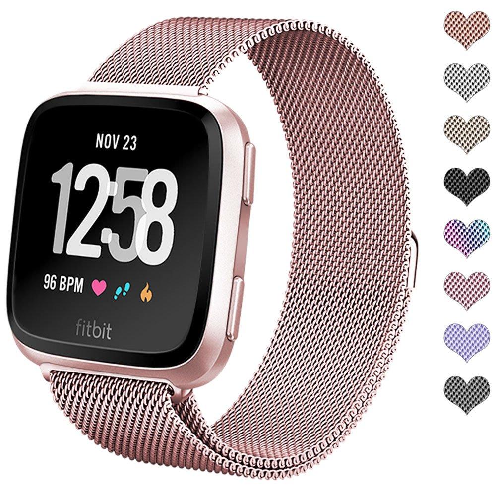 Amazon.com: Fitbit Versa Smartwatch, Peach/Rose Gold