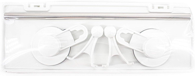 con Ventosa Blanco Pl/ástico ABS Bathlux Estanter/ía para Ba/ño Ducha,Organizador Estantes Cesta para Ducha El/íptica Baldas de Ba/ño Sin Taladro