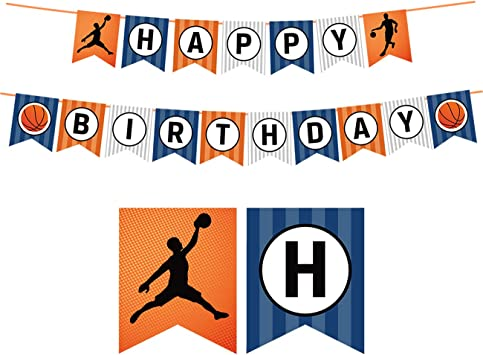JOYMEMO Baloncesto Feliz cumpleaños Banner Cumpleaños ...