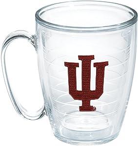 Tervis 1048790 Indiana University Emblem Individual Mug, 16 oz, Clear