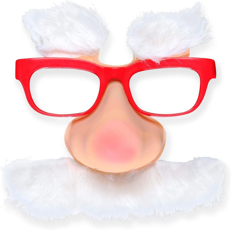 Santa Glasses withnose Tash Eyebrows Dress-Up Novelty Glasses Specs /& Shades