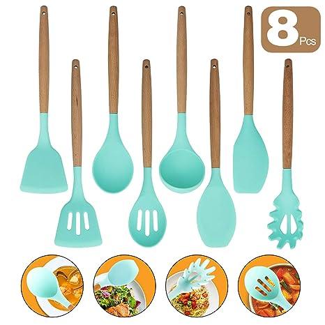Amazon.com: Juego de 8 utensilios de cocina, utensilios de ...
