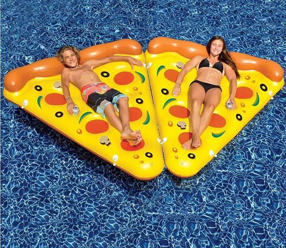 Sucastle Flotador Inflable para Piscina con Forma de Pizza, con para Adultos niños Playa Fiestas de Piscina Juegos Decoraciones de salón ...