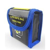 Anbee Bolsa ignífuga de seguridad para baterías para DJI Spark Drone (Grande, 2-baterías)