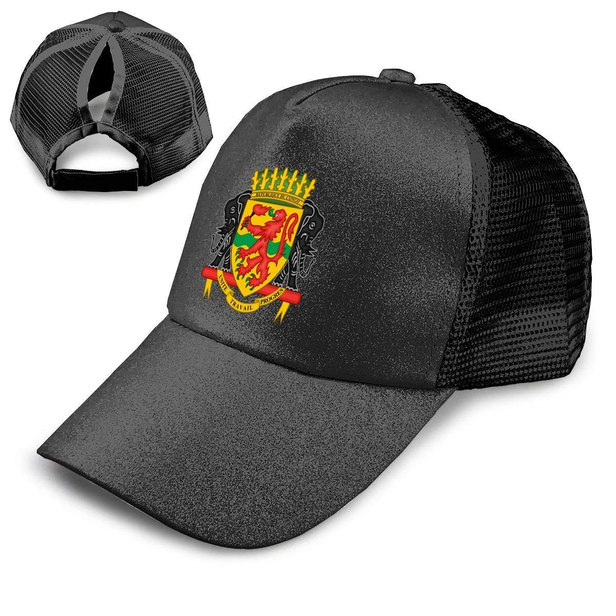 Ponytail Messy High Bun Hat Ponycaps Baseball Cap Adjustable Trucker Cap Mesh Cap