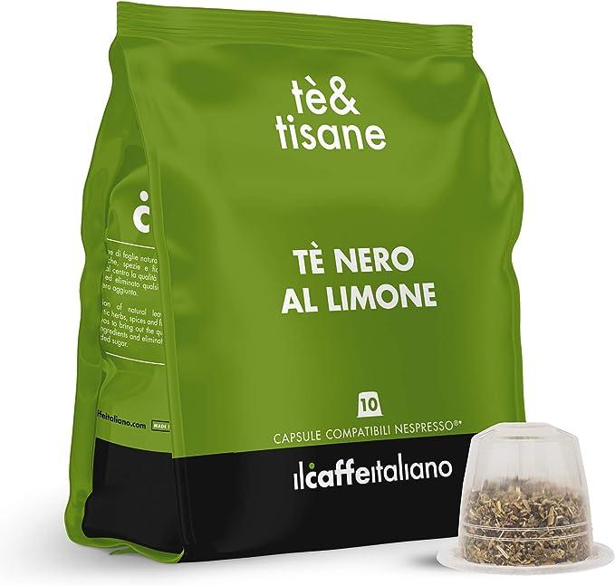 Imagen deIl Caffè Italiano Té Negro al Limón Compatible con Nespresso - 50 Cápsulas