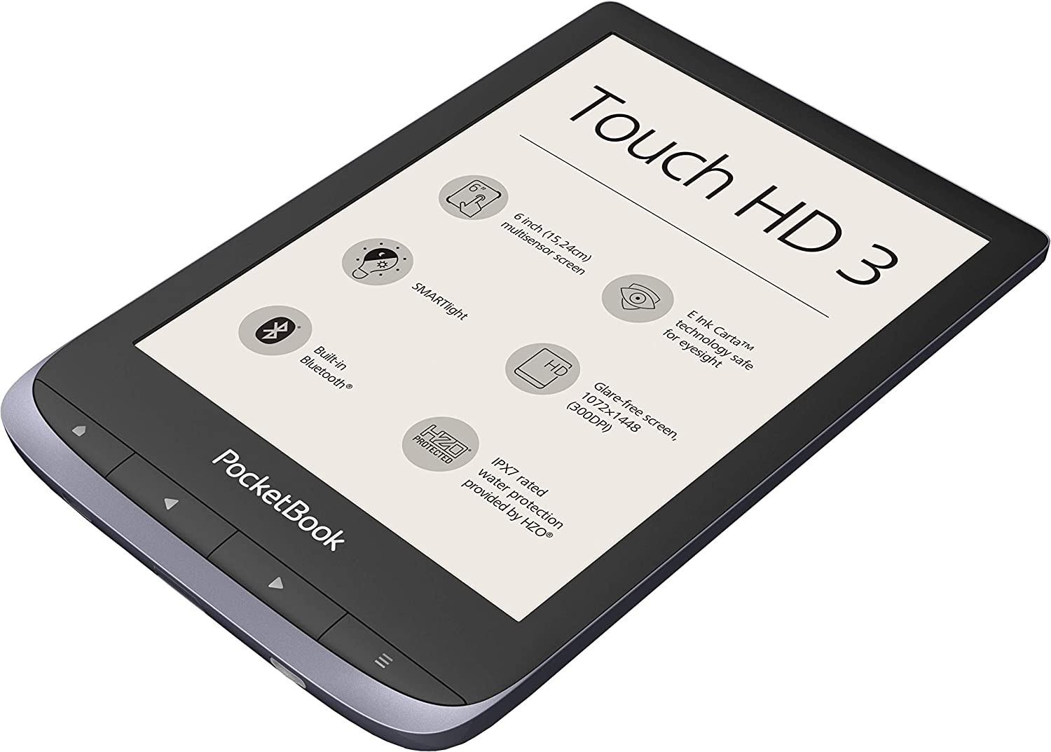 PocketBook Lector de eBook Touch HD 3 (16 GB Memoria; 15,24 Cm ...