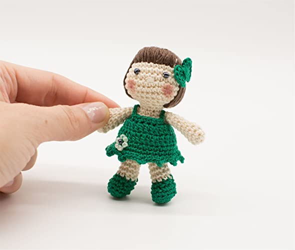Miniatur Puppe Grüner Dolly Irische Geschenk Amigurumi Puppe St