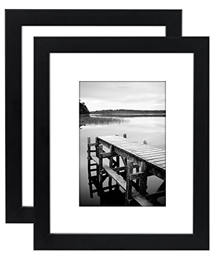 Amazon.com - Americanflat 2 Pack - 8x10 Black Picture Frames ...
