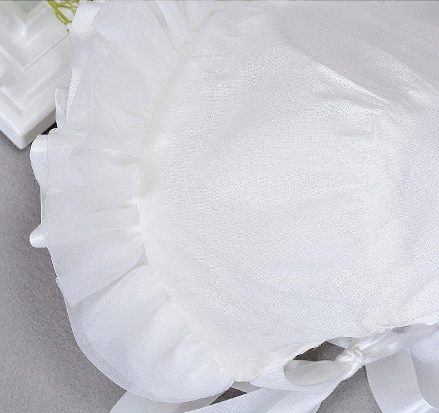 Happy Cherry Talla /Única Sombrero para Ni/ñas Beb/és Recien Nacido con Encaje Blanco