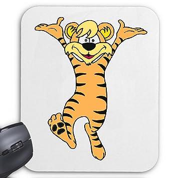 Mousepad Glücklicher Tiger Cartoon Zeichentrick Amazonde Computer