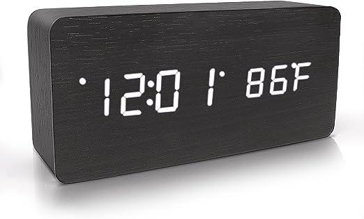 Warming Wooden digital Clock