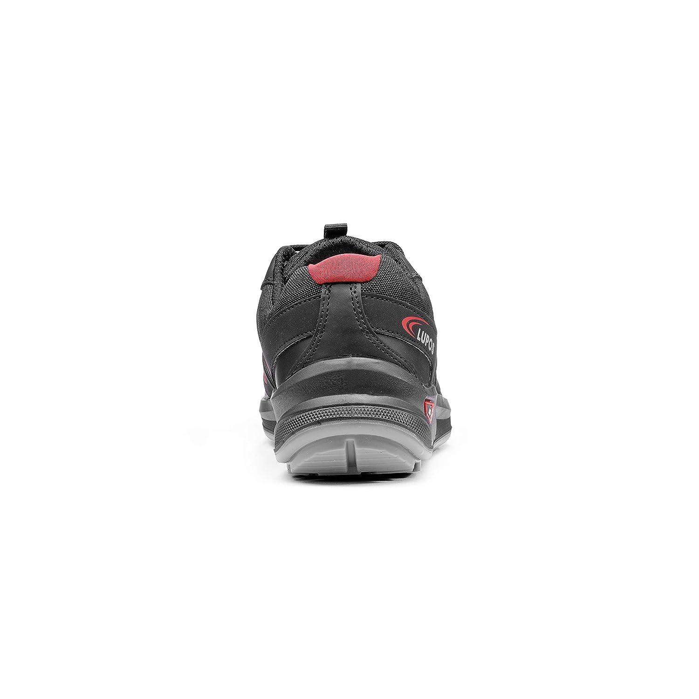 METALLIC S3 SRC ESD, schwarz, rot, 45 45 rot, Schwarz, Rot e00369