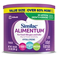 Similac Alimentum, 4 Count, Hypoallergenic Infant Formula, for Food Allergies and...