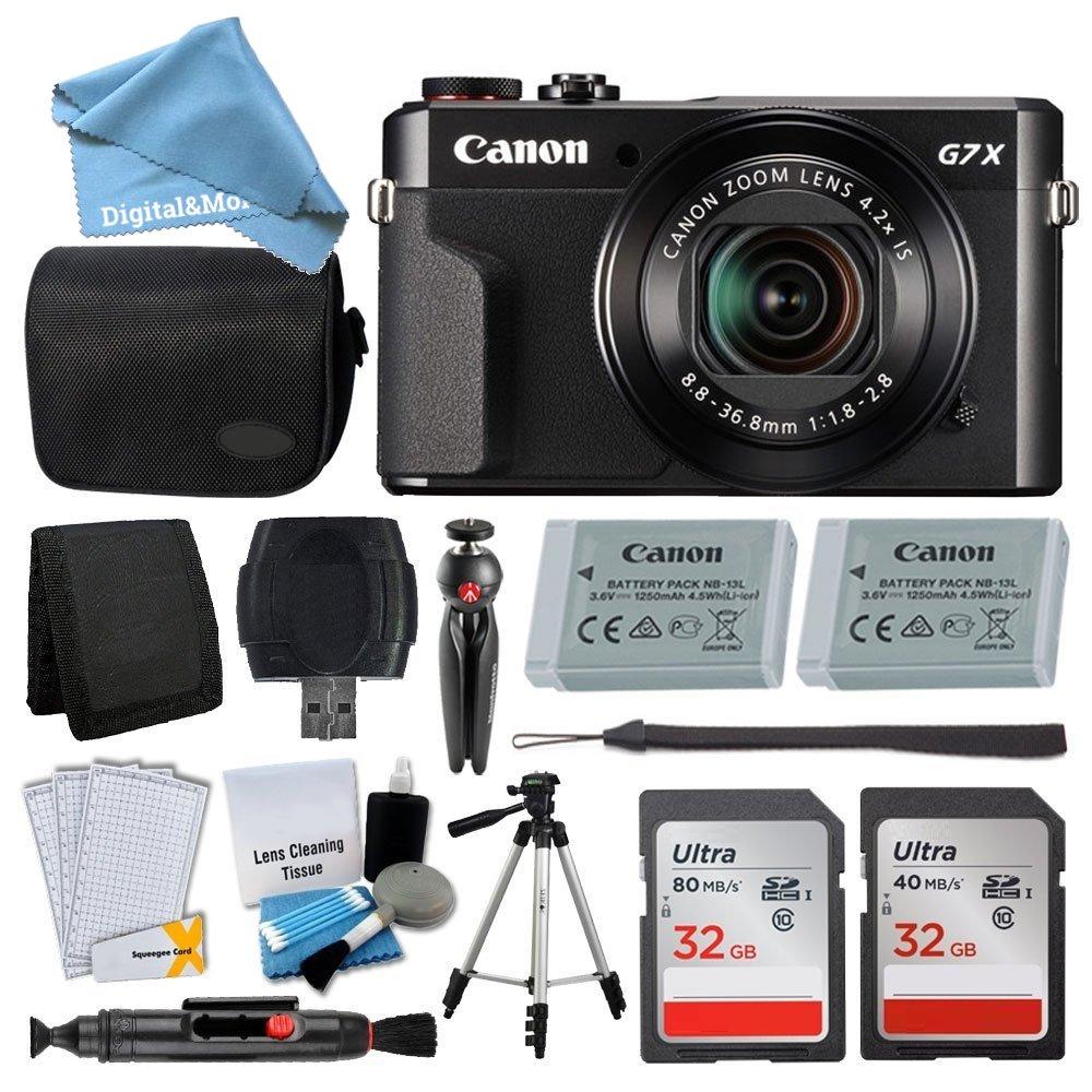 Canon PowerShot G7 X Mark II Digital Camera Kit + 32GB Card + Digital Camera Case + Quality Tripod + USB Card Reader + Screen Protectors + Memory Wallet + DigitalAndMore Cyber Monday Deal